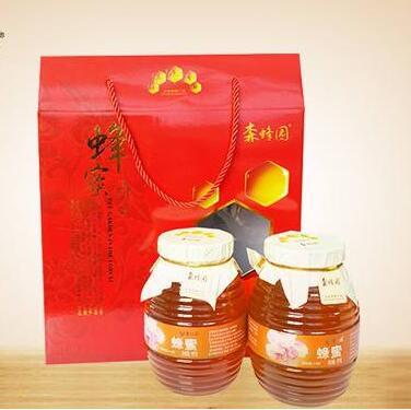 天然纯蜂蜜农家野生无添加结晶成熟蜂蜜礼盒500克*4