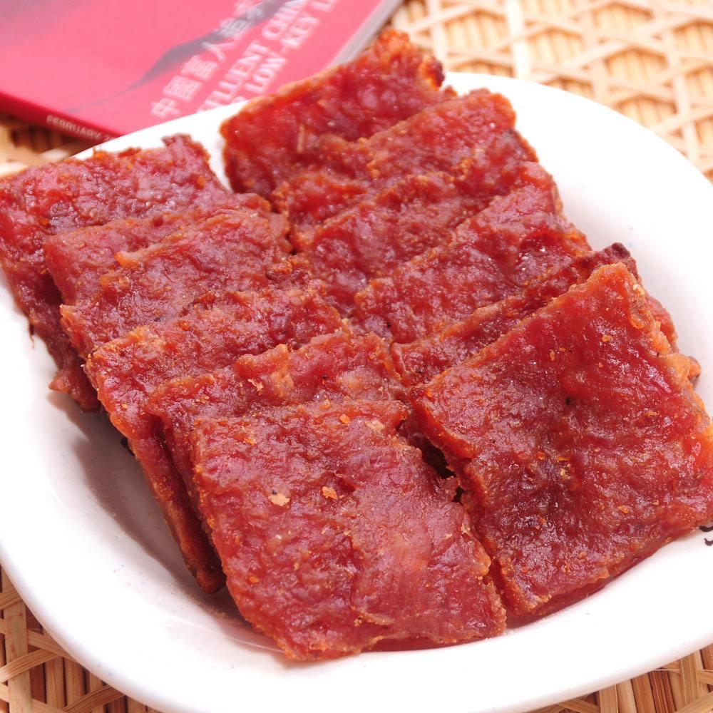 蜜汁猪肉脯烟熏炭烤猪肉干正宗靖江猪肉铺浦特产零食200g*2